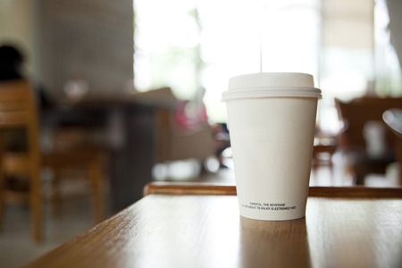 Photo for coffee cup in coffee shop - Royalty Free Image