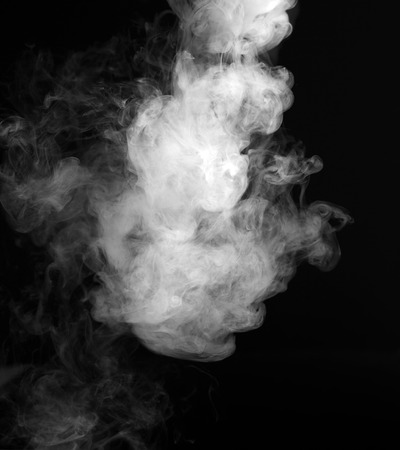 Photo pour Smoke fragments on a black background - image libre de droit