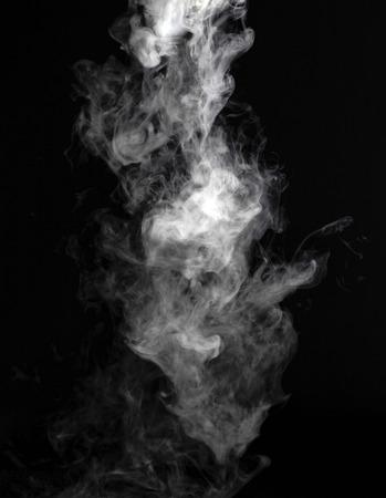 Foto de Smoke fragments on a black background - Imagen libre de derechos