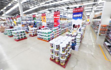 Foto für view of home painting department at hardware store ,blur image. - Lizenzfreies Bild