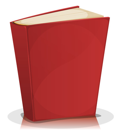 Illustration for Illustration of a cartoon standing funny blank red covered book isolated on white background - Royalty Free Image