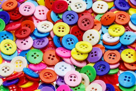 Photo pour Sewing buttons, Plastic buttons, Colorful buttons background, Buttons close up, Buttons background - image libre de droit