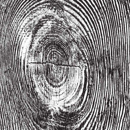 Illustration for Distressed Wooden Knot Overlay Texture for Your design. - Royalty Free Image