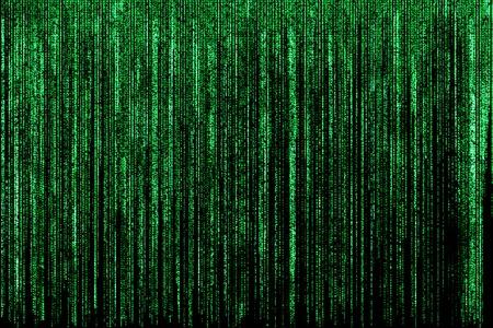 Photo pour Big green matrix background, computer code with symbols and characters. - image libre de droit