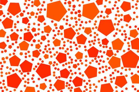Ilustración de Abstract colored pentagon shape pattern. Good for web page, wallpaper, graphic design, catalog, texture or background. Vector graphic. - Imagen libre de derechos