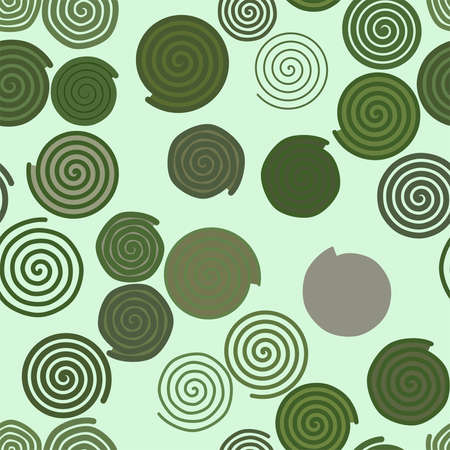 Ilustración de Seamless geometric Conceptual background twirl circle lines pattern for design. Vector illustration graphic. - Imagen libre de derechos