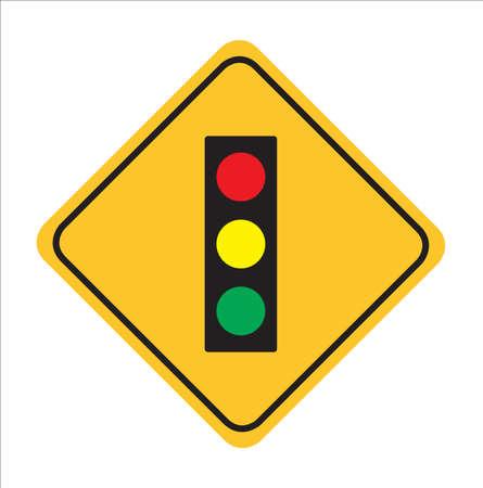 Illustration pour Traffic sign, Traffic light ahead sign background,vactor Illustration - image libre de droit