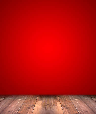 Foto per abstract red background with wood floor - Immagine Royalty Free
