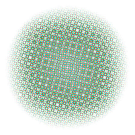 Ilustración de Abstract Halftone Color Circles Dot Template. EPS 10 vector - Imagen libre de derechos