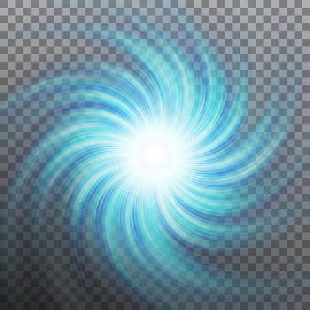 Ilustración de Blue spiral icon. - Imagen libre de derechos
