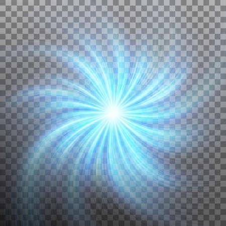 Ilustración de Spiraling blue vortex isolated on transparent background. And also includes EPS 10 vector - Imagen libre de derechos