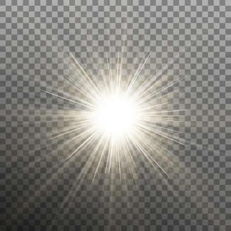 Ilustración de Glow light burst effect on transparent background. - Imagen libre de derechos