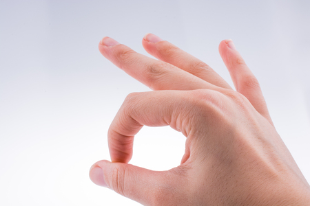 Photo for Gesturing Ok With Two Fingers - Royalty Free Image
