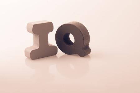 Foto de the word IQ written with colorful letter blocks - Imagen libre de derechos