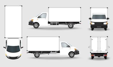 Illustration pour Cargo Truck Van isolated on plain background. - image libre de droit
