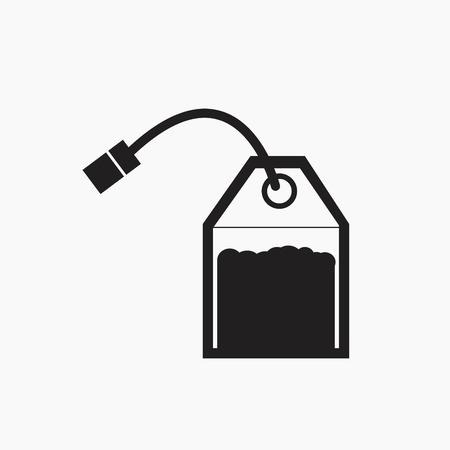 Ilustración de Tea bag vector icon. - Imagen libre de derechos