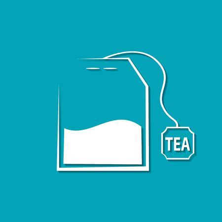 Ilustración de Vector tea bag icon. Food icon - Imagen libre de derechos