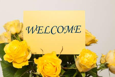 Foto de Welcome card - Imagen libre de derechos