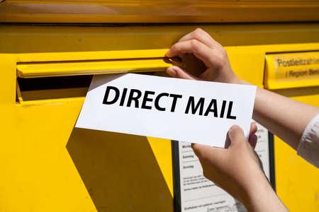 Foto de direct mail letter into mailbox - Imagen libre de derechos
