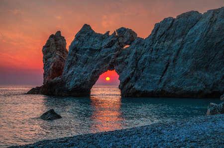 Photo for Dramatic sunrise in Skiathos, Lalaria - Royalty Free Image
