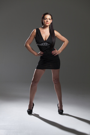 Photo for woman in a mini dress - Royalty Free Image