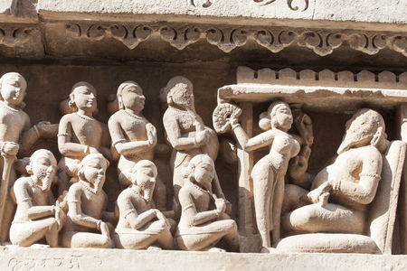 Photo for stone carvings in khajuraho india  - Royalty Free Image