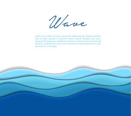 Ilustración de Illustration of Abstract waves background - Imagen libre de derechos