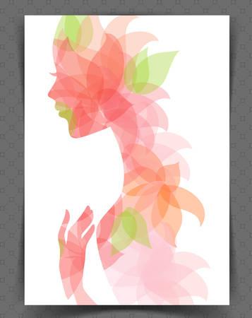Illustration pour illustration of Beautiful woman - image libre de droit