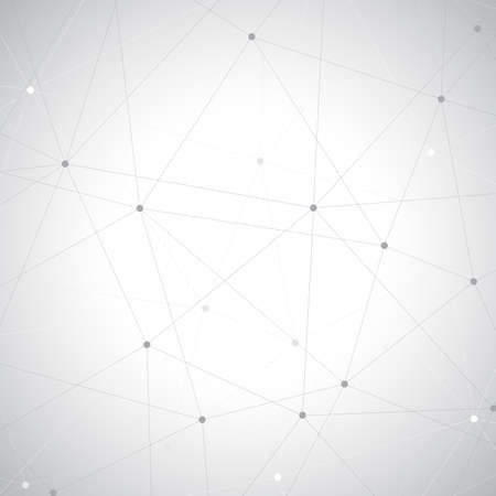 Ilustración de Geometric gray background. Molecule and communication background. - Imagen libre de derechos