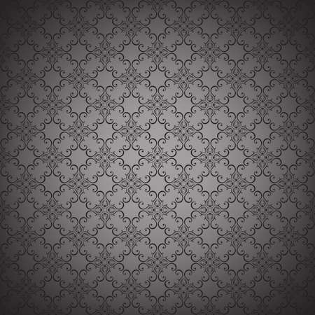 Illustration for Floral seamless wallpapers in the style of Baroque . Can be used for backgrounds and page fill web design. Vector illustration. - Royalty Free Image