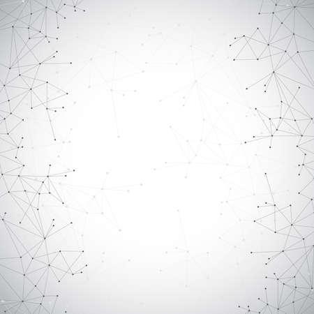Illustration pour Geometric grey background molecule and communication . Connected lines with dots. - image libre de droit