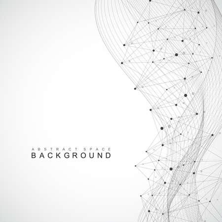 Illustration pour Big data complex. Graphic abstract background communication. Perspective backdrop of depth. - image libre de droit