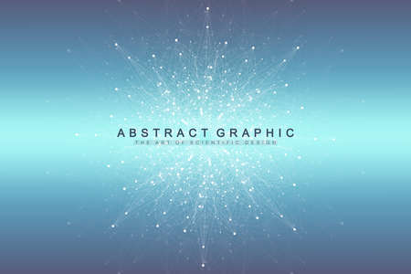 Ilustración de Big data visualization. Graphic abstract background communication. Perspective backdrop. Minimal array. Digital data visualization. Representing the global, international meaning. Vector illustration - Imagen libre de derechos
