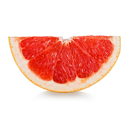 Photo for grapefruit slice isolated on white background - Royalty Free Image