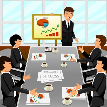 Illustration pour Business meeting in an office - image libre de droit