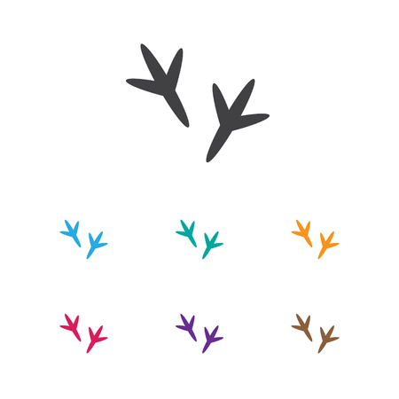 Ilustración de Vector Illustration Of Animal Symbol On Chicken Feet Icon. Premium Quality Isolated Footprint Element In Trendy Flat Style. - Imagen libre de derechos