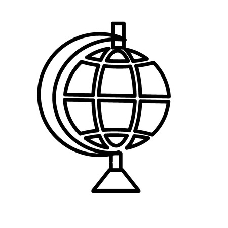 Illustration pour Globe icon vector isolated on white background, Globe transparent sign , line or linear sign, element design in outline style - image libre de droit