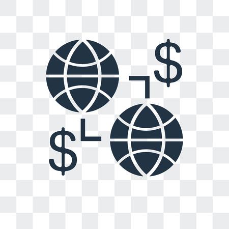Illustration pour Globe vector icon isolated on transparent background, Globe logo concept - image libre de droit