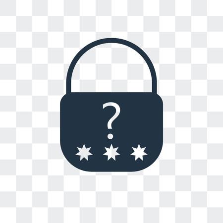 Photo pour Password vector icon isolated on transparent background, Password logo concept - image libre de droit