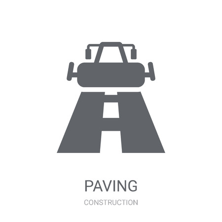 Illustration pour Paving icon. Trendy Paving logo concept on white background from Construction collection. Suitable for use on web apps, mobile apps and print media. - image libre de droit