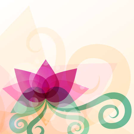 Foto de Beautiful lotus flower illustration. Vector abstract background. Design concept for beauty salon, massage, cosmetic and spa. - Imagen libre de derechos
