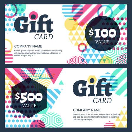Ilustración de creative gift voucher or card background template - Imagen libre de derechos