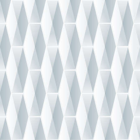 Ilustración de Seamless geometric 3d pattern. Abstract white background with polygonal tiles. Vector illustration. - Imagen libre de derechos