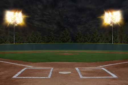 Photo pour Baseball Stadium - image libre de droit