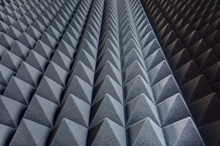 Photo pour Texture soundproof panels in perspective. - image libre de droit