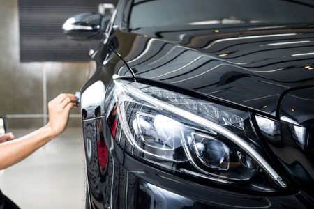 Foto de Car polishing series : Glass coating - Imagen libre de derechos