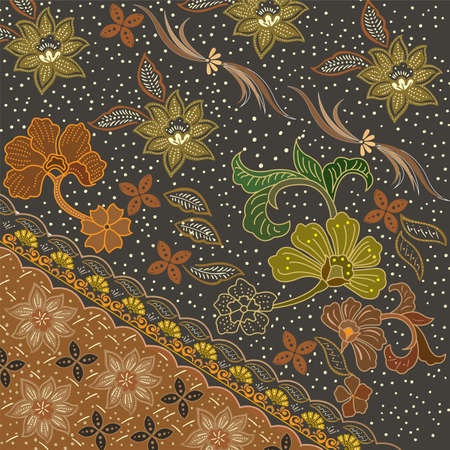 Illustration pour Colorful Batik Cloth Fabric Background - image libre de droit