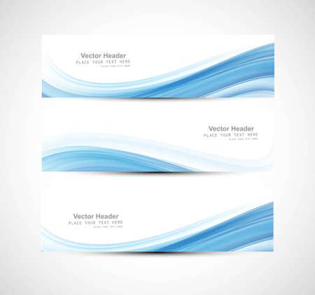Illustration pour Abstract header blue wave design - image libre de droit