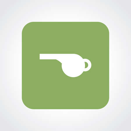 Very Useful Flat Icon of Whistle.