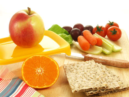 Preparing meal with fresh vegetables and fruits